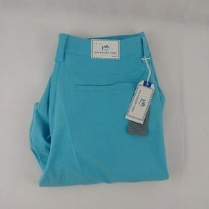 Southern Tide Men's Flat Front Hull Blue Shorts